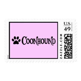 Coonhound (estilo del pirata con el pawprint) estampilla