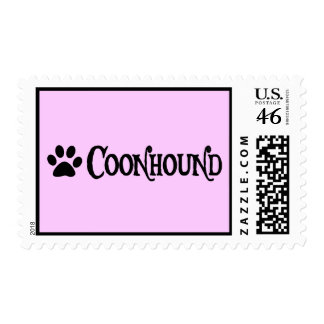 Coonhound estilo del pirata con el pawprint