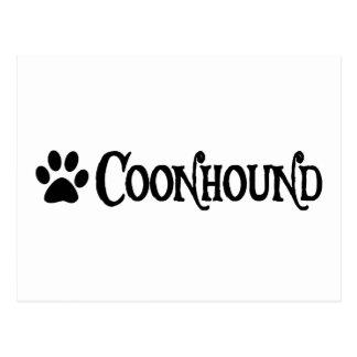 Coonhound estilo del pirata con el pawprint tarjetas postales