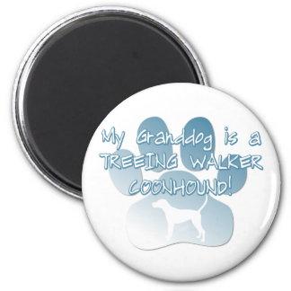 Coonhound Granddog del caminante de Treeing Imán Redondo 5 Cm