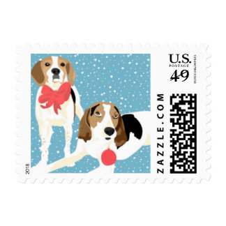 Coonhound Holiday Stamp