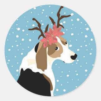 Coonhound holiday sticker