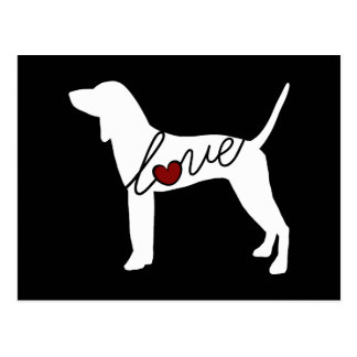 Coonhound Love Postcard