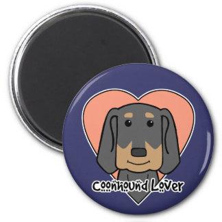 Coonhound Lover 2 Inch Round Magnet