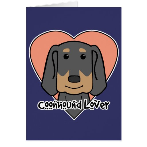 Coonhound Lover Cards