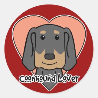 Coonhound Lover Classic Round Sticker