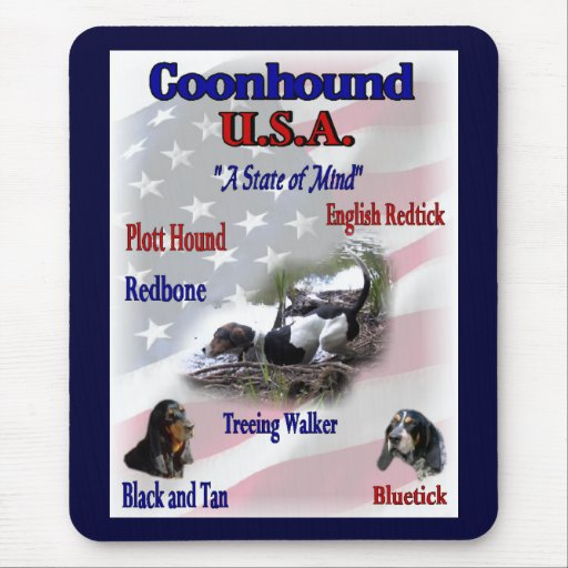 Coonhound Lovers Gifts Mouse Pad