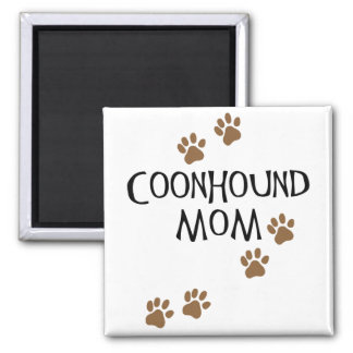 Coonhound Mom 2 Inch Square Magnet