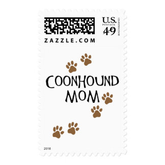 Coonhound Mom Postage Stamps