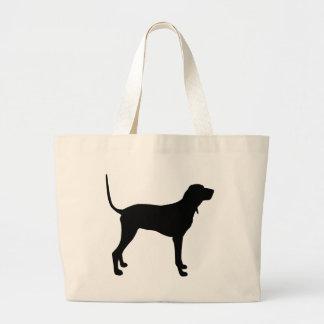 Coonhound negro y del moreno bolsas de mano