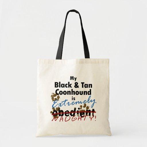Coonhound negro y del moreno extremadamente travie bolsa tela barata