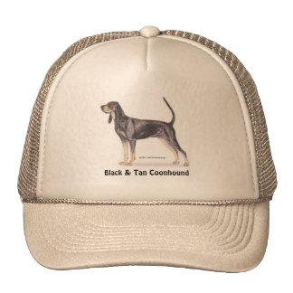 Coonhound negro y del moreno gorro