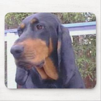 Coonhound negro y del moreno Mousepad