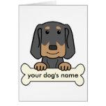 Coonhound negro y del moreno personalizado felicitacion