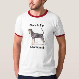 Coonhound negro y del moreno playera