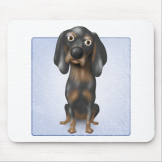 Coonhound (negro y moreno) tapete de raton