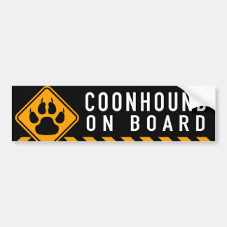 Coonhound On Board Bumper Sticker