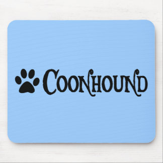 Coonhound (pirate style w/ pawprint) mouse pad