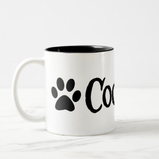 Coonhound (pirate style w/ pawprint) Two-Tone coffee mug