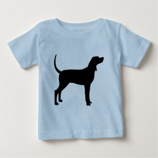 Coonhound Silhouette (black) Baby T-Shirt