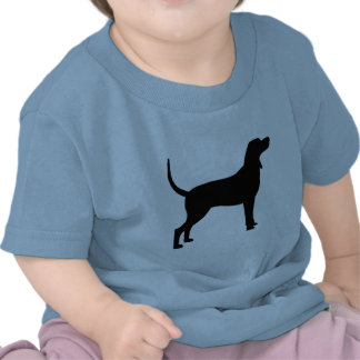 Coonhound Silhouette (black) T Shirt
