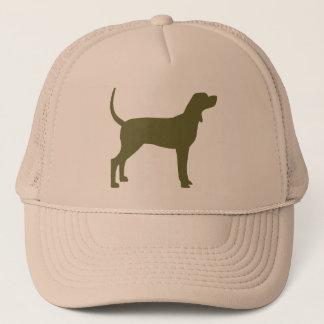 Coonhound Silhouette (olive green) Trucker Hat
