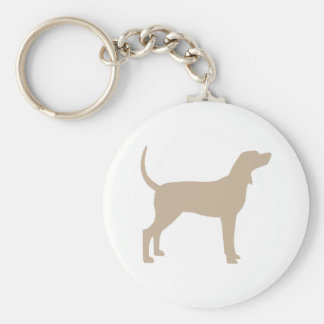 Coonhound Silhouette (tan) Keychain