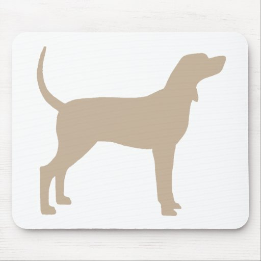 Coonhound Silhouette (tan) Mouse Pad