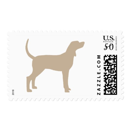 Coonhound Silhouette (tan) Postage