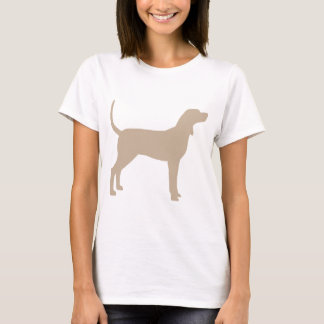 Coonhound Silhouette (tan) T-Shirt