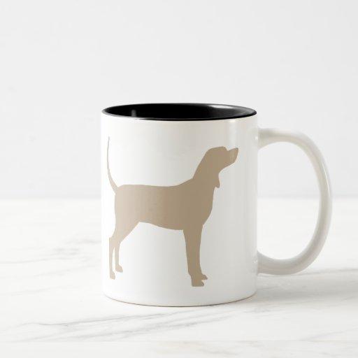 Coonhound Silhouette (tan) Two-Tone Coffee Mug | Zazzle