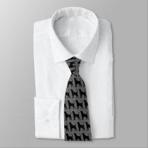 Coonhound Silhouettes Pattern Tie