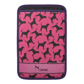 Coonhounds negros rosados conocidos personalizados fundas macbook air