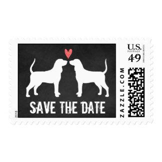 Coonhounds que casan reserva la fecha sello