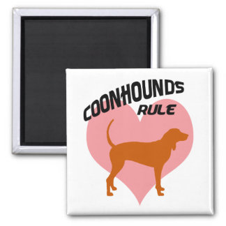 Coonhounds Rule 2 Inch Square Magnet
