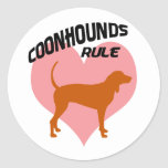 Coonhounds Rule Stickers