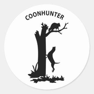 CoonHunter Round Stickers