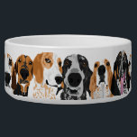 "Coonie Head Bowl<br><div class=""desc"">row of coonhounds</div>"