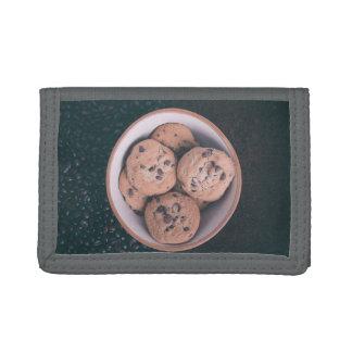 Coookies del microprocesador de chocolate en una