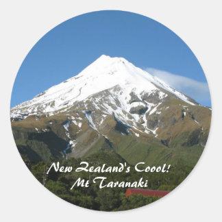 ¡Coool de Nueva Zelanda! Pegatinas del Mt Taranaki Etiquetas Redondas