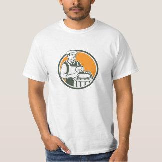 Cooper Barrel Maker Drum Retro Circle Tee Shirt