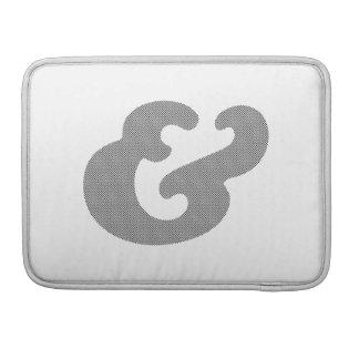 Cooper Bold Italic Black Dots Sleeve For MacBook Pro