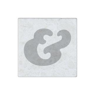 Cooper Bold Italic Black Dots Stone Magnet