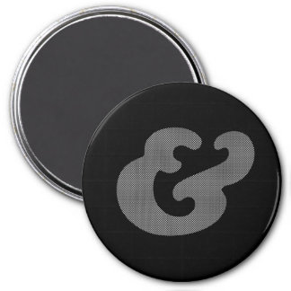 Cooper Bold Italic White Dots 3 Inch Round Magnet