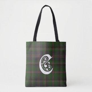 Cooper Clan Tartan Monogram Tote Bag
