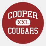 Cooper - Cougars - High School - Abilene Texas Classic Round Sticker