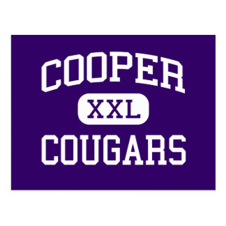 Cooper - Cougars - Junior - Fresno California Postcard