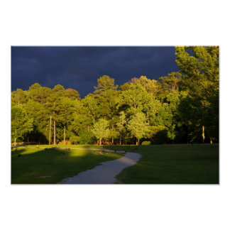 Cooper Creek Park Storm Clouds Poster