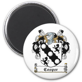 Cooper Family Crest 2 Inch Round Magnet