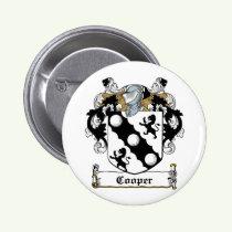 Cooper Family Crest Button